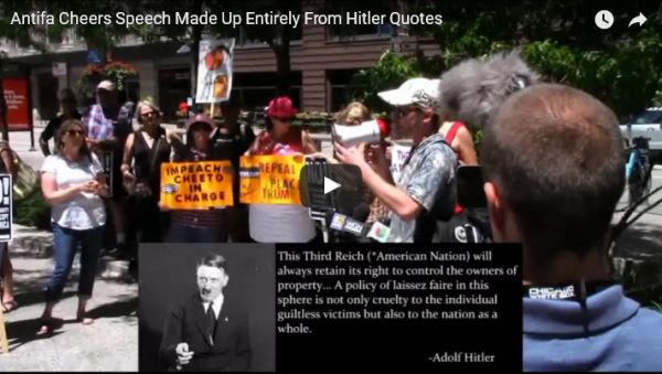 Antifa-cheers-speech-made-up-from-Hitler-quotes_video