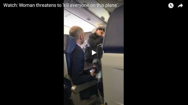 Woman-threatens-to-'kill everyone-on-this-plane'_video
