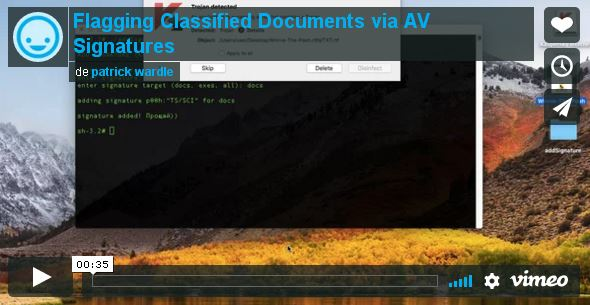 Flagging classified documents_video