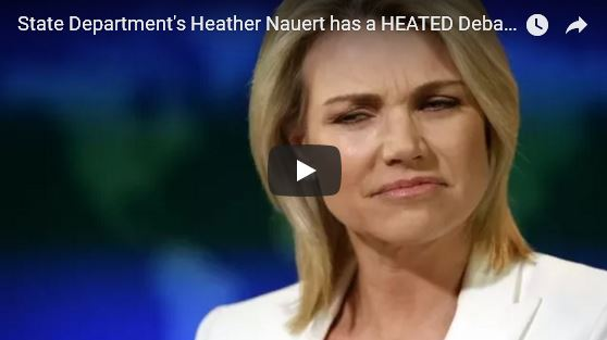 State Department's Heather Nauert HEATED Debate_video