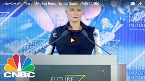 Interview With Lifelike Hot Robot Sophia Full - CNBC_video