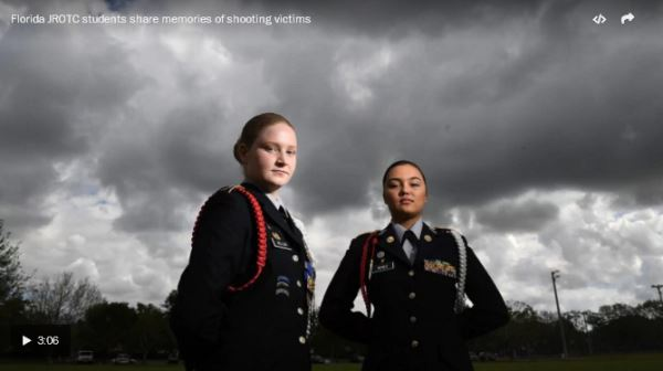 Madison Geller and Angelyse Perez remember cadets who died on Feb. 14_video