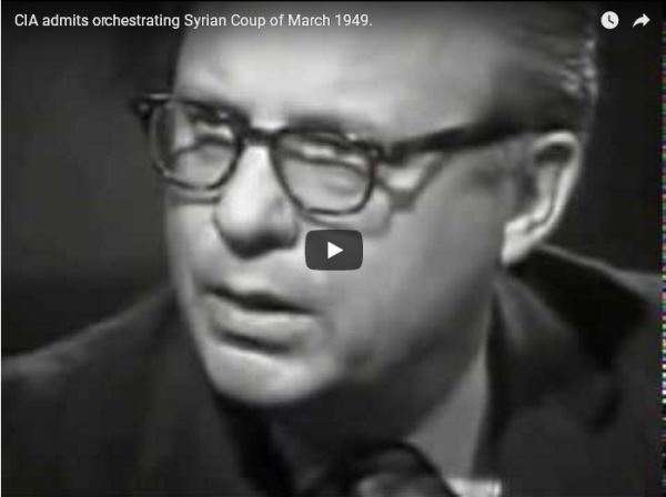 CIA admits orchestrating Syrian Coup of March 1949_video