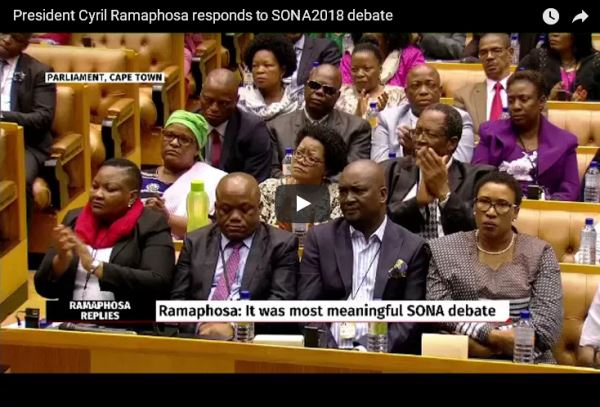 President Cyril Ramaphosa responds to SONA2018 debate_video