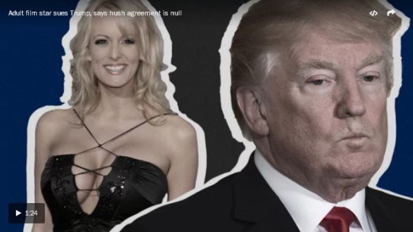 Porn actress Stormy Daniels sues Trump_video