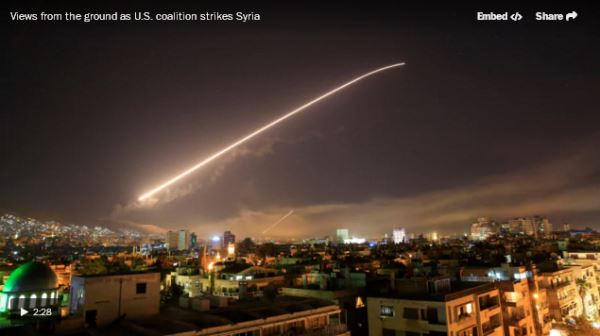 Views from the ground as U.S. coalition strikes Syria_video