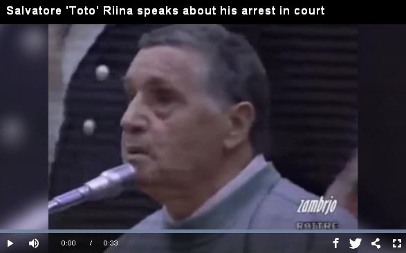 Salvatore 'Toto' Riina speaks about his arrest in court_video