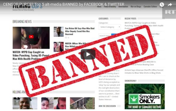 CENSOR PURGE--Top 5 alt-media BANNED by FACEBOOK & TWITTER_video