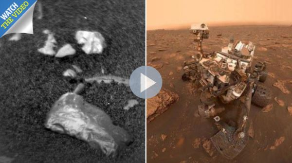 Nasa's Mars curiosity rover finds shiny 'golden' rock_video