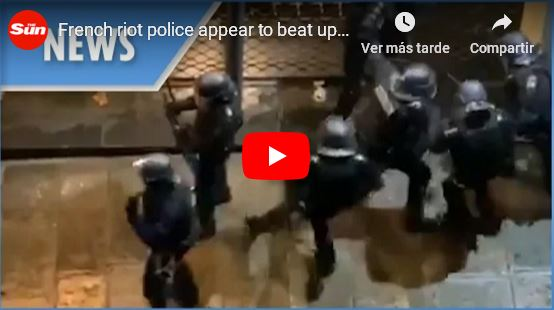 French riot police appear to beat up Yellow Vest protestor_video