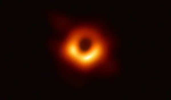 Black hole image captured by the Event Horizon Telescope